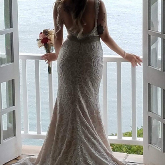 Dresses Wedding Dress All Lace With Nude Backing Size 6 Poshmark